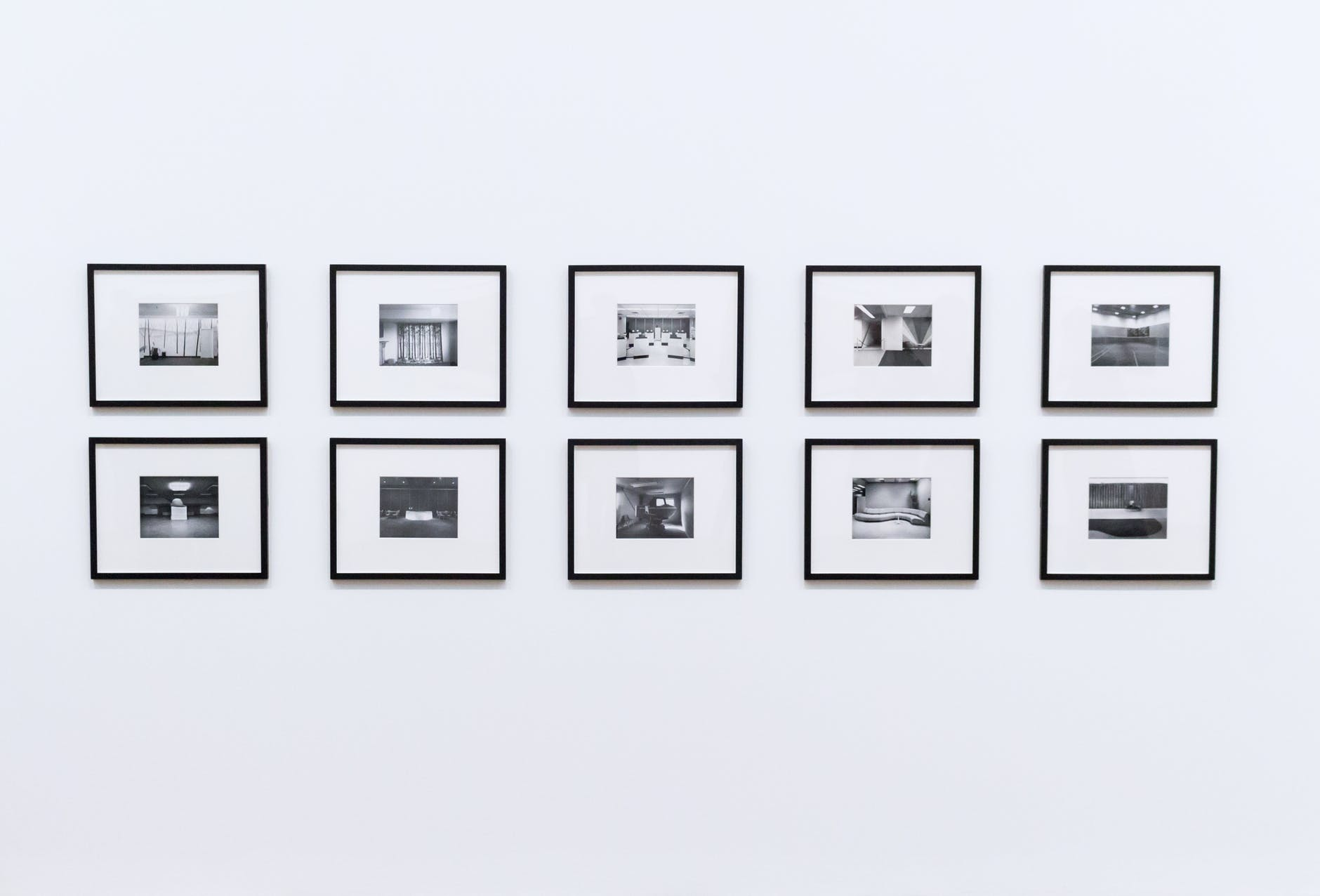 frames on white background